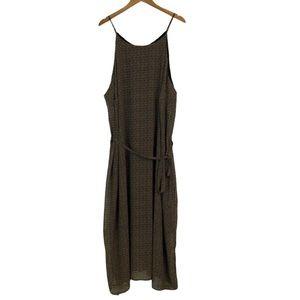 Old Navy Geometric Sheer Overlay Long Dress